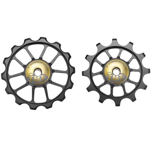 pulley hjul-token-road-1724-alu-sort-12/14-tbt