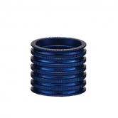 spacer-token-all-1231-alu-5/10/15mm-riflet-1 1/8-blå
