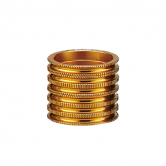 spacer-token-all-1231-alu-5/10/15mm-riflet-1 1/8-guld