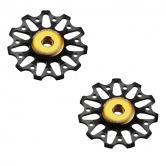 pulley hjul-token-road-1721-campa-alu-sort-11-alm