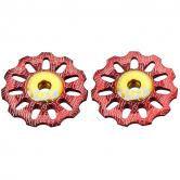 pulley hjul-token-mtb/road-1730-alu-rød-11-alm