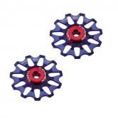 pulley hjul-token-mtb/road-1701-alu-blå-10-alm