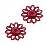 pulley hjul-token-mtb/road-1711-alu-rød-11-alm