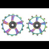 pulley hjul-token-mtb-1746mx-alu-oil/slick-14/16-alm