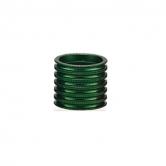 spacer-token-all-121-alu-5/5/10mm-riflet-1 1/8-grøn